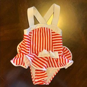 Red and white Baby One Piece Swimsuit